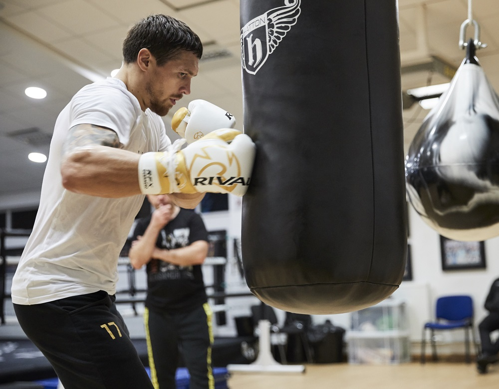 Oleksandr Usyk training session in Manchester ahead of his undisputed Cruiserweight clash against ony Bellew at Manchester Arena on Saturday November 10th. 5th November 2018. Picture By Mark Robinson.